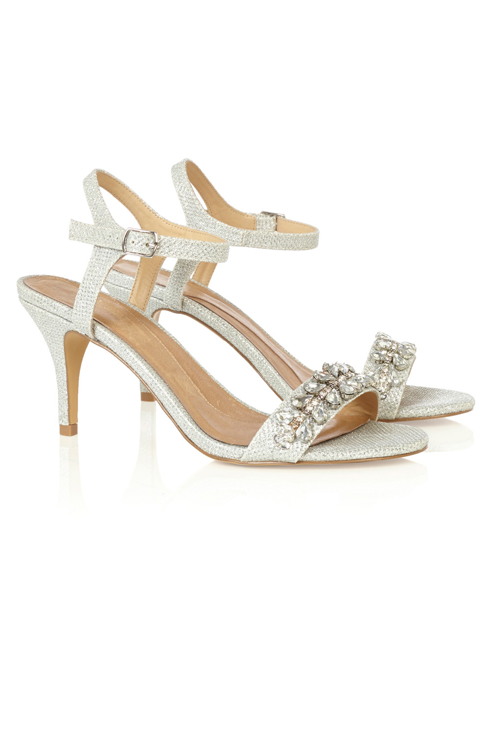 Wedding EMILIA JEWELED STRAPPY SHOES