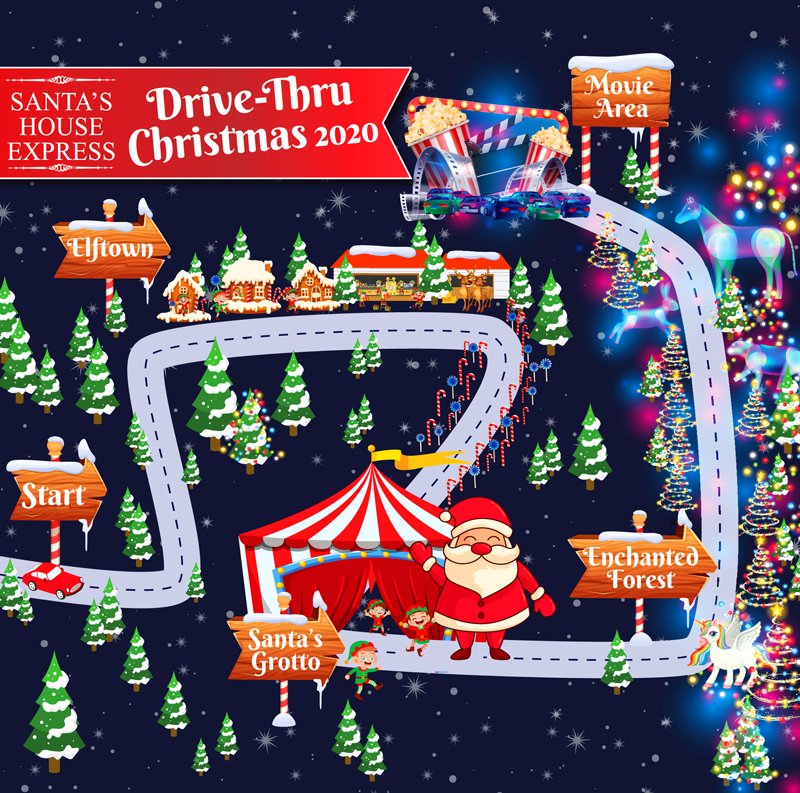 Santa House express drive thru 2020 Irish Consumer